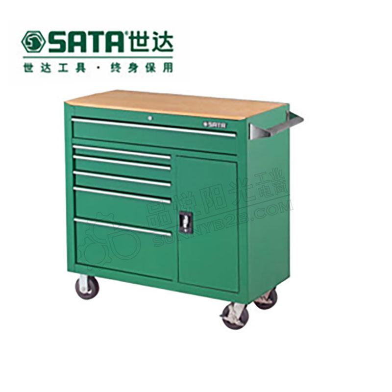 世达8抽屉柜形工具车